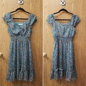 Romy floral print peasant dress